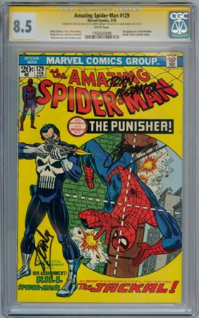 Amazing Spider-man  #129 CGC 8.5 Signature Series Signed x3 Stan Lee John Romita Conway Marvel comic